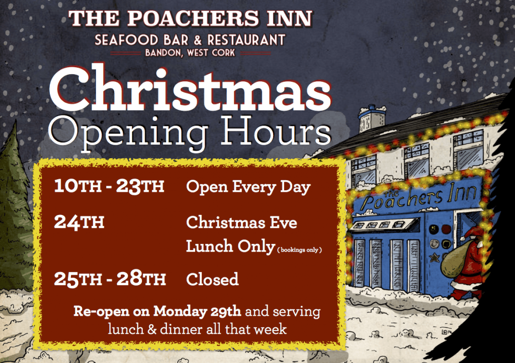 Poachers Christmas Opening Hours