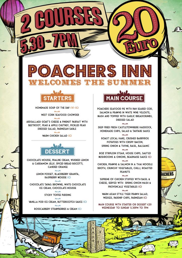 Poachers Inn Bandon Welcomes The Summer €20 Menu