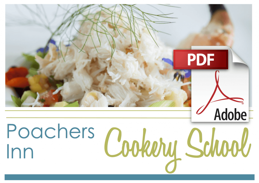 Poachers Cookery School Brochure Cover with PDF